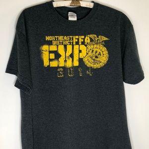 FFA John Deere Missouri t-shirt gray yellow large